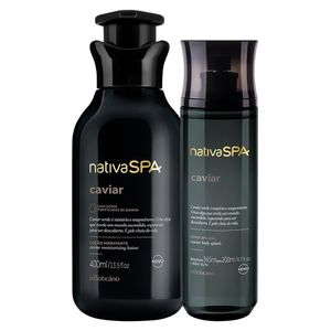 Presente Nativa SPA Caviar: Loção Hidratante + Body Splash