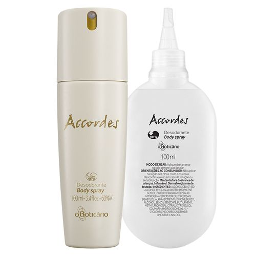 Combo Accordes: Desodorante Body Spray + Refil