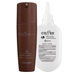 Combo Coffee Man: Desodorante Body Spray + Refil