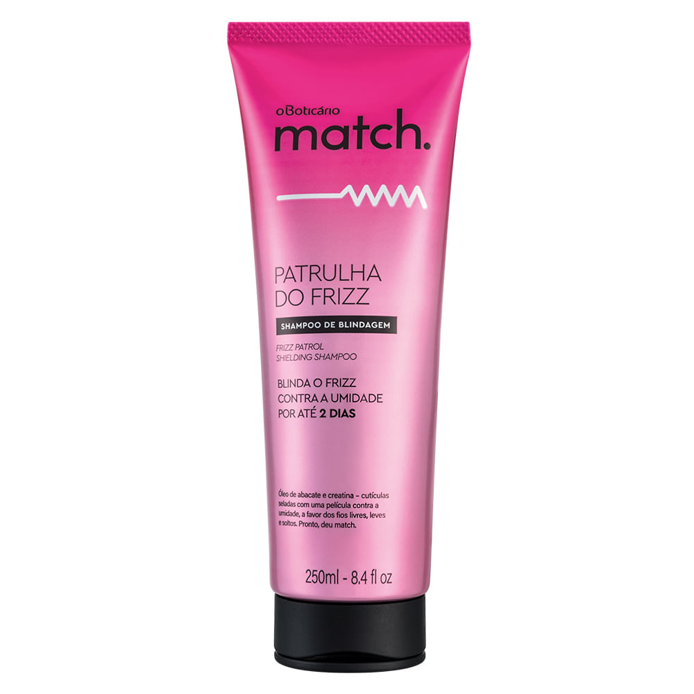 Shampoo Match Patrulha do Frizz, 250ml