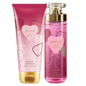 Combo Dream Amor no Ar: Body Splash Corporal + Loção Hidratante