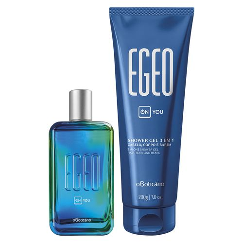 Combo Egeo On You: Desodorante Colônia + Shower Gel Cabelo, Corpo e Barba