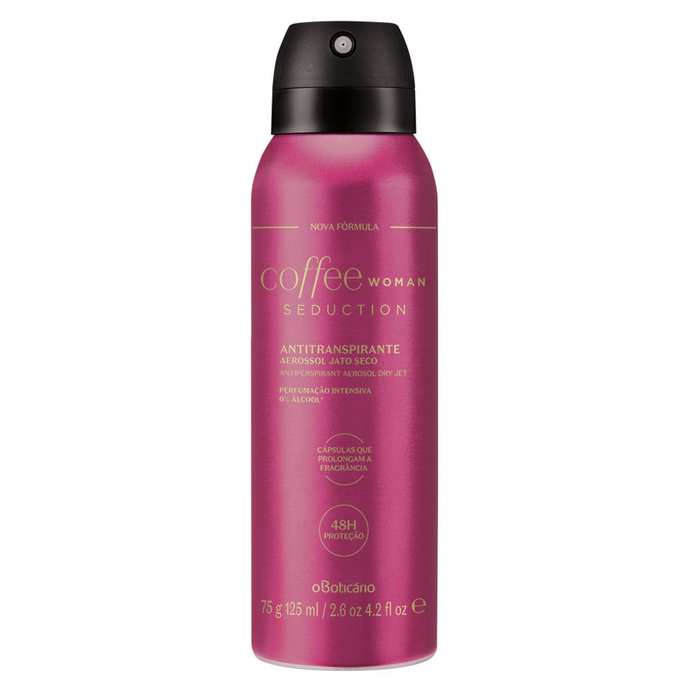 Desodorante Antitranspirante Aerosol Coffee Woman Seduction, 75g/125ml