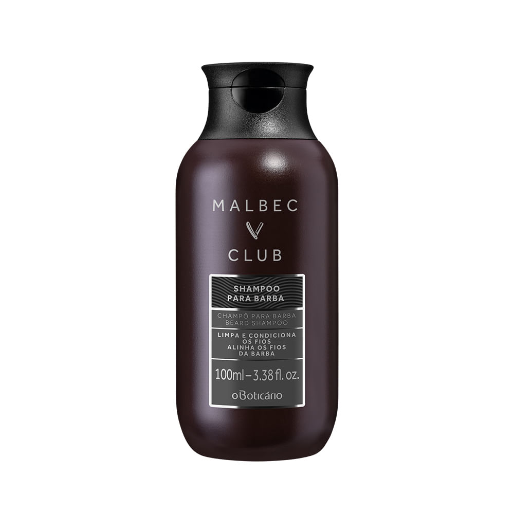 Shampoo Para Barba Malbec Club, 100 ml