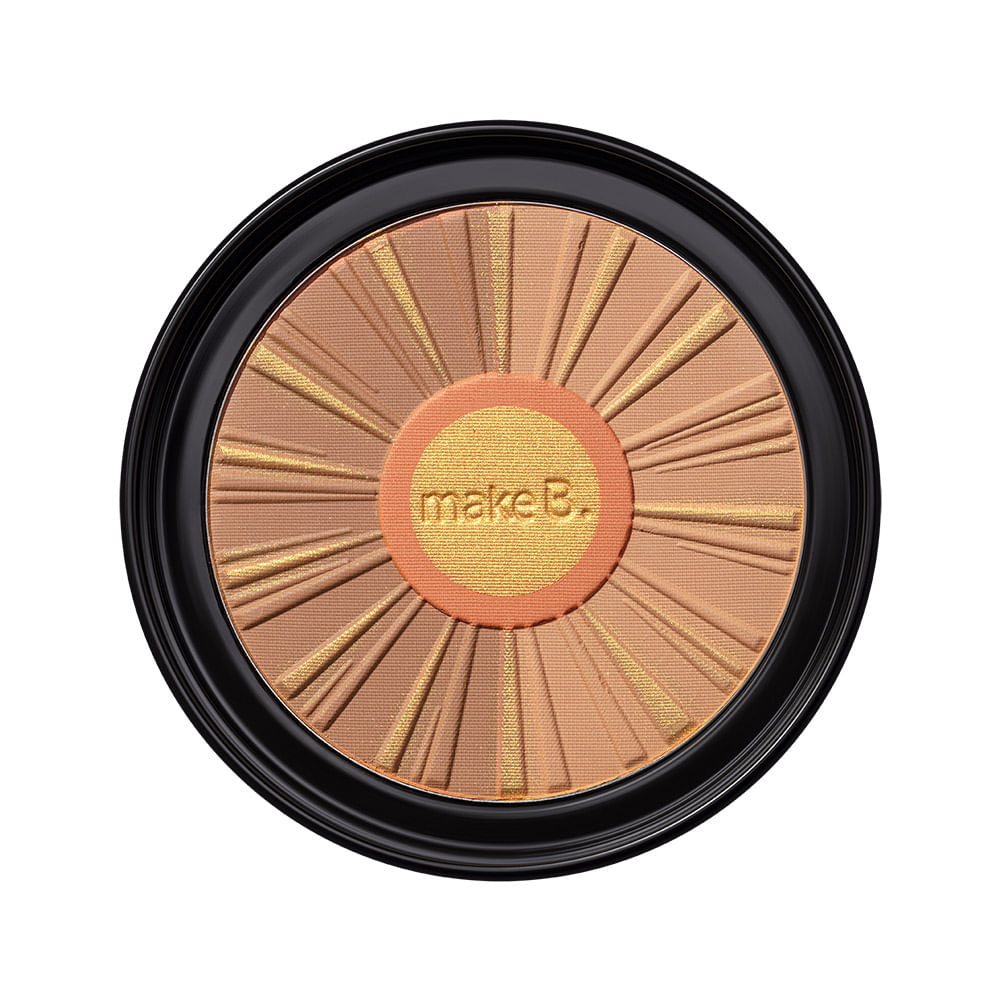 Pó Compacto Facial Bronzer Medium Tan Make B. Sun Hit, 28 g