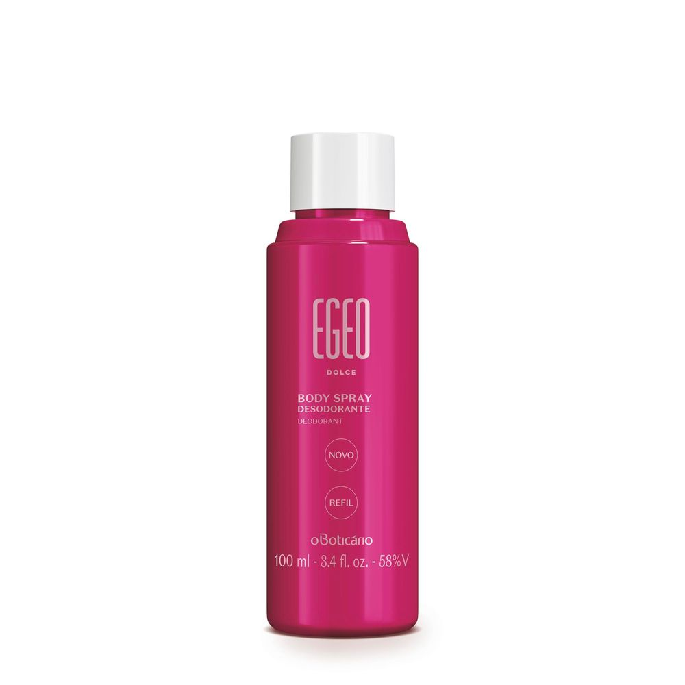 Refil Body Spray Desodorante Egeo, 100 ml