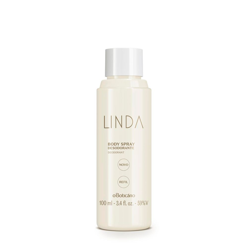 Refil Body Spray Desodorante Linda, 100 ml