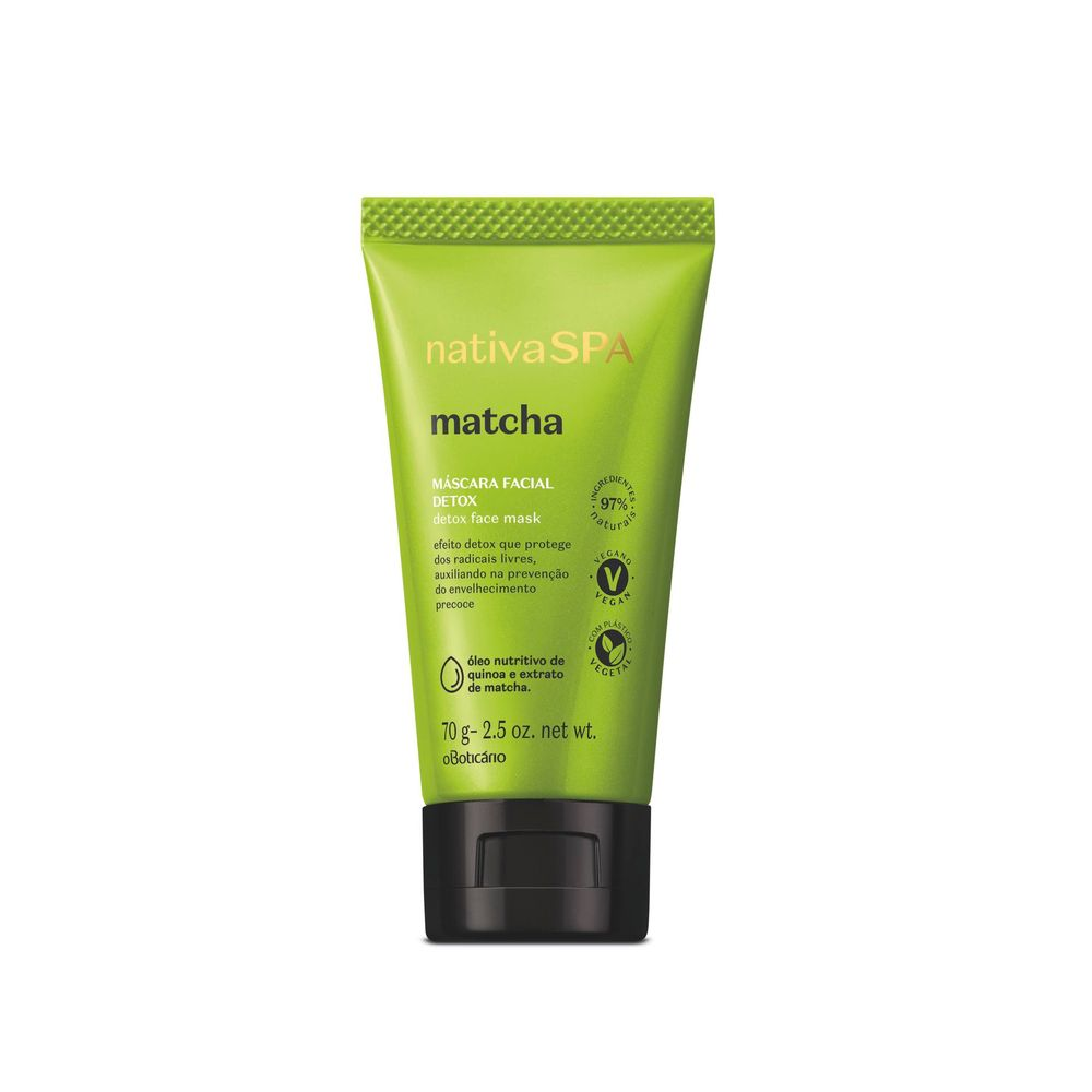 Nativa Spa Máscara Facial Detox Matcha, 70 g